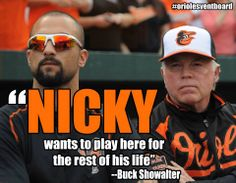 Nick Markakis. Always an Oriole. Such an underrated ball player. The media should give this guy more attention. A consistent hitter and a great outfielder.