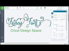 Fancy Fonts with Cricut Design Space - YouTube