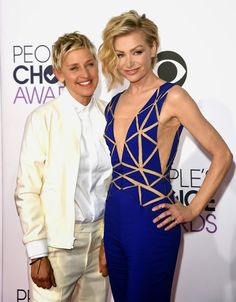 Ellen Degeneres and Portia de Rossi at People's Choice Awards 2015: http://www.averagesocialite.com/2014/11/2015-peoples-choice-awards-jan-7-2015-la.html