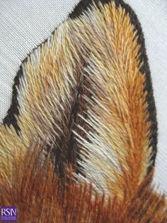 Advanced Silk shading worked by Nancy E - detail 3 | by Royal School of Needlework - Durham