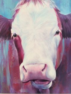 Happy cow Happy Cow, Cows, Painting, Animals, Cow Pictures, Canvas, Animaux, Painting Art, Animal