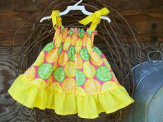 Girls Dress size 18/24 months sundress yellow by SouthernSister2, $20.00