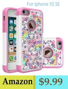 b152613ada4c Unicorn  iphone 5S SE phone case gift for girls ipod Crystal Bling Unicorn