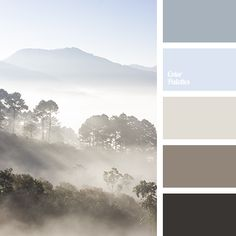"""""""dusty"""" brown, almost black, coffee, color of coffee with milk, color of stone, color of the sky, delicate beige, fog color in the mountains, gray beige, gray-blue, morning mist color, pale blue, sand."""