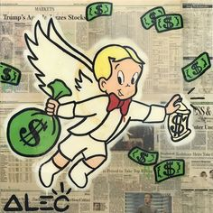 Bid now on Richie Wings by Alec Monopoly. View a wide Variety of artworks by Alec Monopoly, now available for sale on artnet Auctions. Disney Pop Art, Cartoon Smoke, Blood Wallpaper, Girl Cartoon Characters, Graffiti Painting, Hippie Art, Dope Art, Ink Illustrations, Monopoly