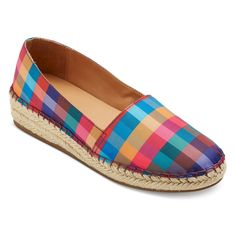 Women's Sonya Wedge Espadrille Ballet Flats - Multicolored 9, Multi-Colored
