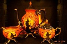 Vintage William Rogers Silver Plate Claw Footed Halloween Witches Tea Service | eBay sold $1,288.00