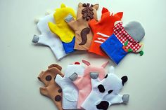Old MacDonald Hand Puppets from felt - back view (3rd pic will have front of the farmer!!)