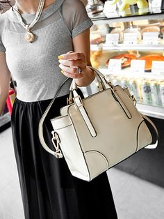 White Structured Winged Cross Body Bag with Buckle Handle | Choies