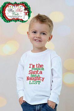 Holiday Time Boys Green Santa/'s Awesome List Christmas Long Sleeve Shirt