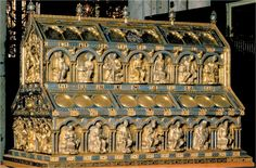 Erzbischof Rainald von Dressel bringt die Reliquiren in 1164.