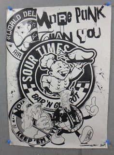 2007 D*FACE DFACE SOUR TIMES SIGNED SCREEN PRINT graffiti ARTIST