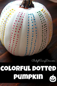 So CUTE!!!!! and EASY!!!! Perfect Halloween Craft Colorful Dotted Pumpkin Craft