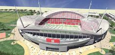 An artist's impression of the old, new Liverpool FC stadium
