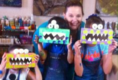 Monsters boxs#made kids# recicable# funny