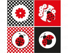 Ladybug imprimible Cupcake Toppers descarga por ThumbAlinaLane Baby Ladybug, Ladybug Art, Ladybug Crafts, Diy And Crafts, Crafts For Kids, Paper Crafts, Spring Animals, Cupcake Toppers, First Birthdays