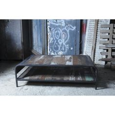 Industrial Coffee Table ✅ Unique Collection of The Best Reclaimed Wood Side End Tables ✅ Urban & Retro Retro Coffee Tables, Coffee Table With Shelf, Low Coffee Table, Ottoman Bed, Luxury Loft, Wood Design, Home Living Room, Decor Styles, Recycling