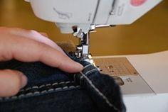 Invaluable for short girls: How to hem jeans while leaving the original hemline!
