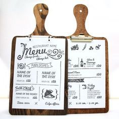 Die Cut Printed Wooden Clip Boards. The Smart Merketing Group - Hospitality. Mocha-to-Gold menus and menu covers. Mocha to Gold themed restaurant menus and menu presentation products.