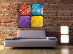 4 pieces 20 x 20 pc, more of 6144 combinaisons/positions. Abstraction lyric in motion! Abstract Landscape, Les Oeuvres, Painting, Landscape Planner, Contemporary, Paint, Painting Art, Paintings, Painted Canvas