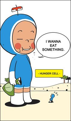 Hungry Cell from Yumi's Cells by #DonggunLee   #YumisCells #Comics #Webcomics #Webtoons #LineWebtoons