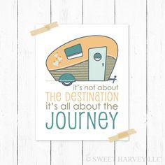 Retro Camper Destination Journey 8 x 10 Wall Art Print. $15.00, via Etsy.