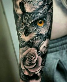 Owl, tattoo