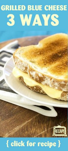 Love grilled cheese? Try this twist on a classic. Chef Michael Symon's grilled cheese recipe with blue cheese! Make it 3 ways. http://www.recapo.com/the-chew/the-chew-recipes/the-chew-special-crispy-grilled-cheese-recipe-blue-cheese-sauce/