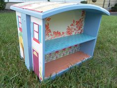 Doll House made from two drawers.Dishfunctional Designs: Upcycled Dressers: Painted, Wallpapered, & Decoupaged