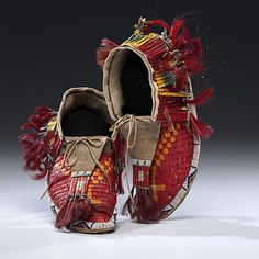 Sioux Quilled Hide Moccasins