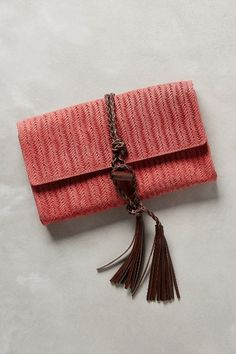 Penelope Chilvers Woven Leather Wrap Clutch - anthropologie.com #anthroregistry
