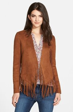 Love this modern take on the fringe jacket!