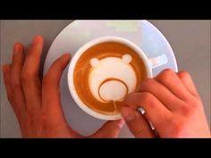 ラテアート クマ 作り方 latteart カプチーノ - YouTube