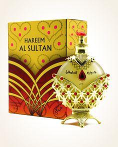 Khadlaj Hareem Al Sultan Gold parfémový olej 35 ml Al Sultan, Origami, Perfume Bottles, Christmas Ornaments, Holiday Decor, Gold, Lily, Christmas Jewelry, Origami Paper