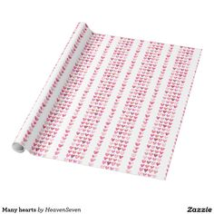#Many #hearts #wrapping #paper #zazzle #heaven7 #valentines #gifts