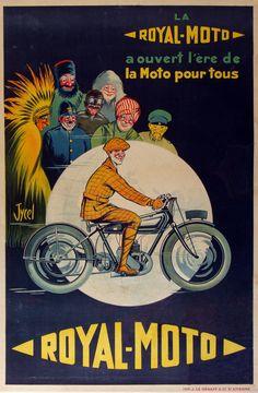 Royal-Moto Ad, c. 1930. Bike Poster, Motorcycle Posters, Poster Ads, Car Posters, Poster Prints, Motorcycle Art, Retro Advertising, Vintage Advertisements, Vintage Ads