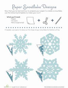 Paper Snowflake Patterns Worksheet