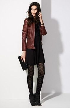 burgundy leather jacket outfit | Fashion♡Women | Pinterest ...