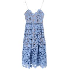 Self-Portrait Short Dress (7.667.160 VND) ❤ liked on Polyvore featuring dresses, pastel blue, lace dress, sleeveless dress, lace cocktail dress, blue dress and deep v-neck dress