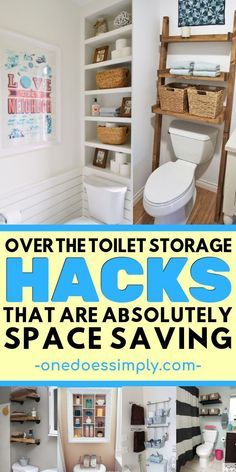 Are you organizing in a small bathroom space? If you want to optimize some idle … Are you organizing in a small bathroom space? If you want to optimize some idle space above your toilet, check out these awesome organization… Continue Reading → Space Saving Bathroom, Small Space Bathroom, Small Bathroom Organization, Bathroom Storage, Home Organization, Bathroom Ideas, Master Bathroom, Small Rooms, Decor For Small Spaces