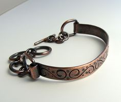 Patterned Copper Bracelet ~ RUTH JENSEN