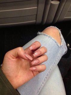 nail designs easy step by step nail designs easy step by step Nude Nails, Stiletto Nails, Gel Nails, Acrylic Nails, Nail Polish, Gorgeous Nails, Pretty Nails, Vernis Rose Pale, Beauty And Fashion