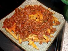 Beer-Chili Cheese Fries