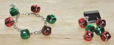 2 Piece Jewelry Set in Red and Green by juBEADlation on Etsy, $12.00
