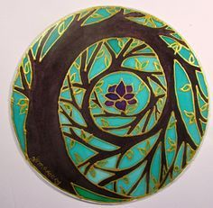 Tree Mandala, Tree of Enlightenment, mandal art, spiritual gift, tree of life art, spiritual art meditation art, pagan,wiccan
