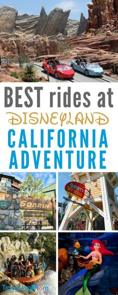 Best rides at Disneyland California Adventure plus ride heights and FASTPASS ride options list.
