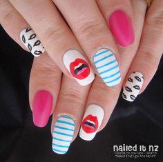 Nailed It NZ: Meghan Trainor - Lips Are Movin Nail Art + Tutorial http://www.naileditnz.com/2015/01/meghan-trainor-lips-are-movin-nail-art.html