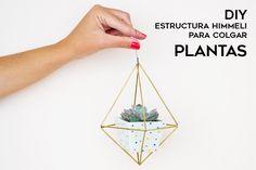 Aprende con este tutorial a realizar una Estructura himmeli para colgar plantas
