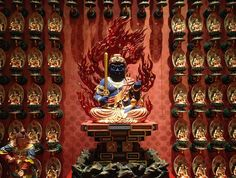 Acala at Buddha Tooth Relic Temple and Museum, Singapore Japanese Buddhism, Buddha Sculpture, Buddhist Art, Japanese Fabric, Archaeology, Printing On Fabric, Temple, Religion, Statue