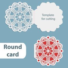 Laser Cut Wedding Round Card Template Paper Openwork Greeting
